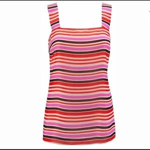 NEW CAbi # 3448 Banded Cami Blouse Tank Mod Stripe